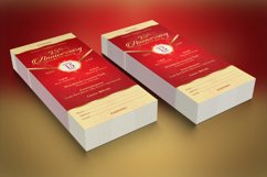 Red Gold Anniversary Gala Ticket Template Product Image 6