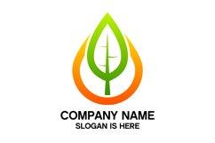 Eco water drop logo design vector Product Image 2