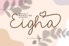 Eigha Lovely Script Product Image 1