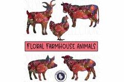 Farm Animals, Floral Pattern, Bundle, Clip Art, Print, Product Image 1