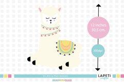 Llama clipart, llama birthday png, happy llama stickers Product Image 2