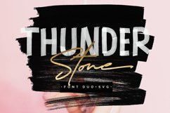 Thunder Stone Font Duo OpenSVG Product Image 1