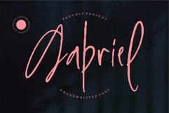 Web Font Gabriel - Handwritten Font Product Image 1