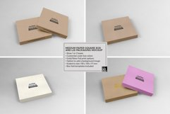 Medium Square Paper Box and Lid Packaging Mockup Product Image 5