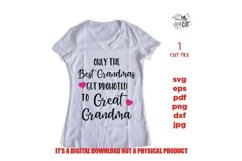 only best grandma promoted to great grandma SVG, png, DXF, Product Image 2