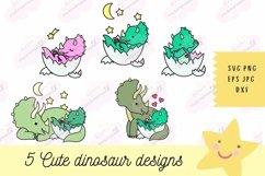 Baby Dinosaur SVG - SVG Files for Cricut, Cute Tshirt Design Product Image 1