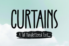 Web Font Curtains -Tall Handlettered Font Product Image 4
