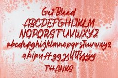 Web Font Get Bleed - Horror Fonts Product Image 5