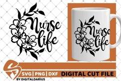Nurse Life svg, Stethoscope svg, Hero svg, Medical, Flower Product Image 2
