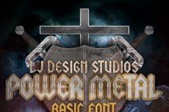LJ Power metal Font Product Image 2