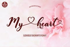 My heart script font Product Image 1
