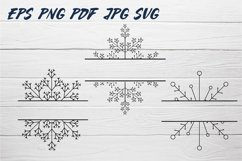 Snowflake SVG and Christmas frames SVG collection Product Image 2