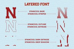 Staincool Layered Font Product Image 2