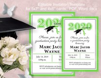 Invitation Template editable text - GREEN - Graduation 2021 Product Image 2
