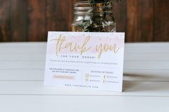 Thank You Card for Canva | Printable | Pink & Gold Product Image 6