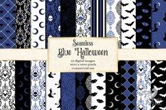 Blue Halloween Digital Paper Product Image 1