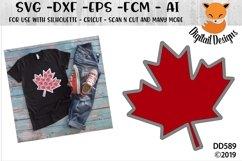 Faux Maple Leaf Applique Canada SVG Product Image 1