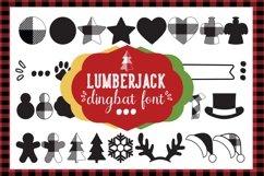 Lumberjack dingbat font, Combinable Christmas elements Product Image 1