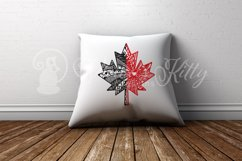 Maple leaf zentangle, Canadian, Canada flag, Canada Day Product Image 5
