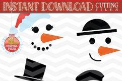 Snowman Faces SVG - Snowman Svg - Christmas bundle SVG Product Image 5