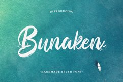 Bunaken - Handmade Brush Font Product Image 1