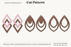 Earrings SVG Template, Silhouette Cut Files, Cricut Product Image 1