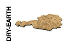 AUSTRIA 3D Maps Images Dry Earth Snow Grass Terrain Sand Product Image 3