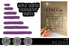 Word Search Highlighter Marks, SVG, Product Image 1