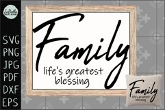 Family Life's Greatest Blessing SVG, Sublimation PNG & Print Product Image 1