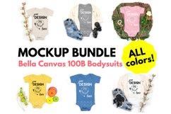 Bella Canvas 100B Baby Bodysuit Mockup Bundle - Baby Mock Up Product Image 1