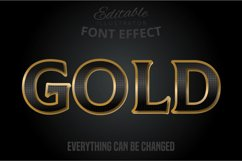 Gold text, editable text effect Product Image 1