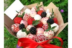 Photo strawberry blackberry berry sweet chocolate bouquet Product Image 1