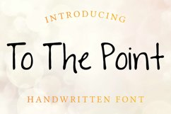 To The Point Hand Lettered Sans Serif Font Product Image 1