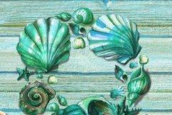 Turquoise ocean Seashell Product Image 4