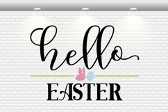 Hello Easter Round Sign SVG Cut Files Product Image 2