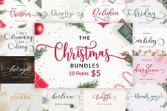 The Christmas Bundles 10 Fonts For $5 Product Image 1