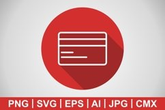 Vector Credit Card Icon Product Image 1