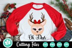 Christmas SVG   Reindeer SVG   Oh Deer SVG Product Image 1