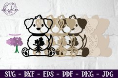 3D Mother's Day SVG, Puppies, Dogs, Father's Day, Mandala Product Image 4