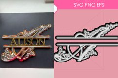 42 Split Family Monogram SVG Mega Bundle Layered Monogram Cu Product Image 5
