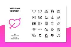 Wedding Icon Set Product Image 1