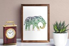 Elephant Zentangle - Doodle Art SVG - Vector Product Image 2