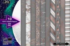 Grey and Rosegold Digital Paper Bundle Product Image 1