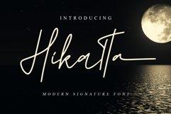 Hikatta Signature // Fashionable Handwritten Font - WEB FONT Product Image 1