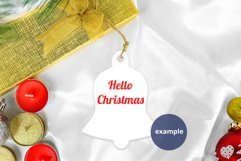 Christmas Bell Ornament Mockup PSD, Bell Ornament Mockup PNG Product Image 3
