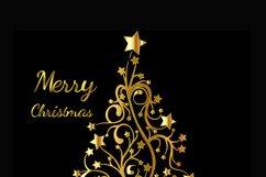 Digital Christmas Card, Printable Digital Christmas Card, Card, Black and Gold Christmas Card, Happy Holidays Card, Instand Download Card Product Image 2