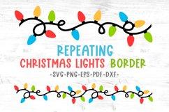 Christmas lights svg Christmas border svg Decals svg files Product Image 1