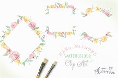 Rose Bliss 7 Frames Watercolor Floral Border Flowers Pink Product Image 2