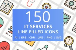 150 IT Services Filled Line Icons Product Image 1