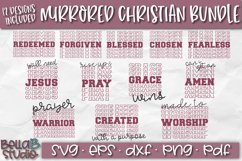 Christian Quotes SVG Bundle, Christian SVG Cut Files, Mirror Product Image 1
